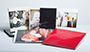 AsukaBook Book Bound EX Photo Book with red and black slide-in cases