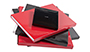 AsukaBook Book Bound EX Photo Book slide-in cases come in red and black