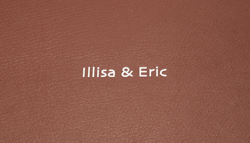 AsukaBook Book Bound FLX Faux Leather Photo Book Brown faux leather with silver hot stamp