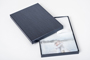 AsukaBook Crystal Photo Album Black spine album in corresponding smooth graphite pearl case with protective wrap