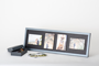 Gallery box with 4 image frame in quilted black