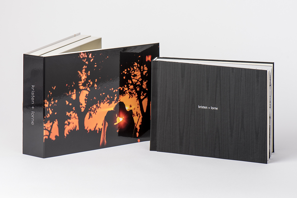 Neoclassic flush mount album and presentation box for for Flush mount photo books