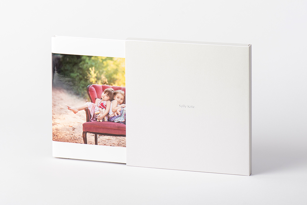 AsukaBook Zen Layflat EX Photo Book Ivory Pearl slide-in case
